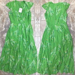NWT Free People Printed Peacock Retro Midi Dress